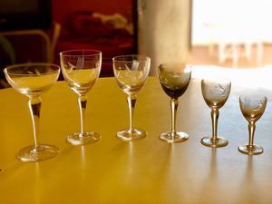 1 Juego completo de copas antiguas