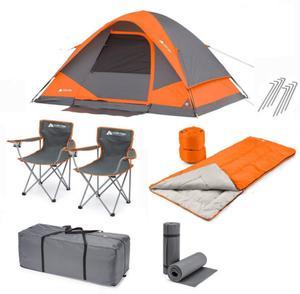 Carpa Ozark Trail 4 Personas + 2 Bolsas De Dormir Set 8 Pzas