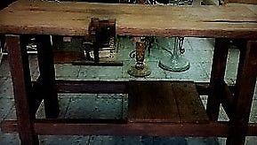Banco de trabajo de Pinotea solida rustica 70 x 1,20 cm