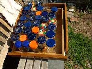 Frascos de vidrio,de cafe y mermelada