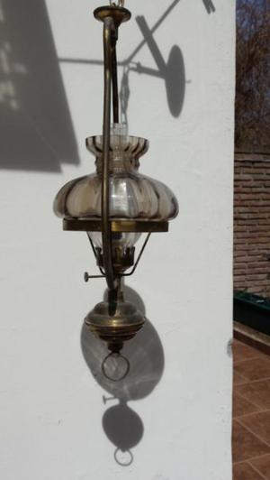 lampara colgante de bronce
