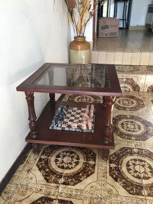 Mesa ratona madera y vidrio