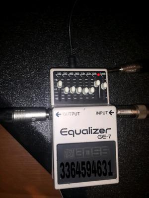Pedal ecualizador boss ge7 en caja, igual a nuevo