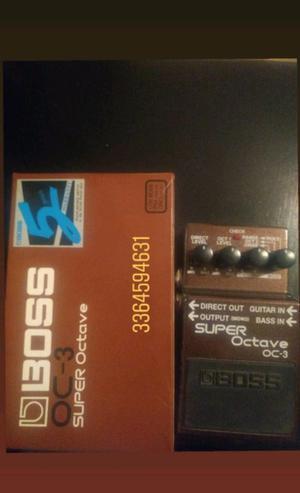 Pedal octavador boss oc3 en caja, igual a nuevo