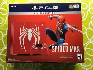 Ps4 pro 1tb. Edición limitada. Spiderman.