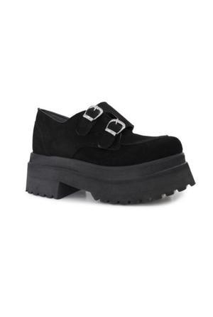Zapatos Sofía de Grecia número 38 Gamuza Negros Nuevos