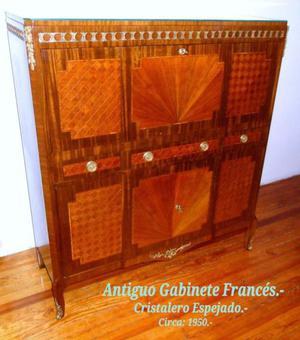 Gabinete Francés con Cristalero.-