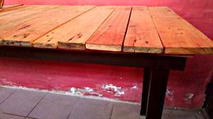 Mesa larga rustica como para quincho
