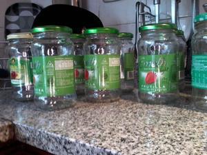 frascos de vidrio c/tapa de dulce-7$-c/u