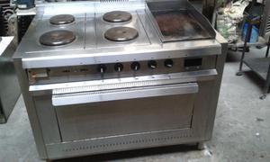 Cocina Electrica 4 h, plancha, y horno usada.