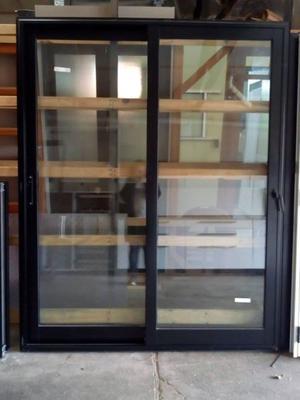 Puerta balcón de aluminio línea Mediterránea M3 vidrio