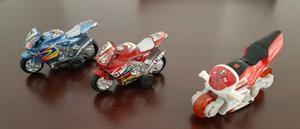 Lote de 3 Motos Infantil Juguete de Plastico Moviles