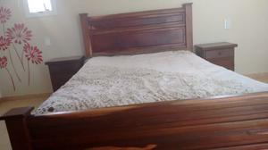 Juego de dormitorio de algarrobo 2 plazas