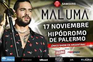 Maluma en el Hipódromo de Palermo