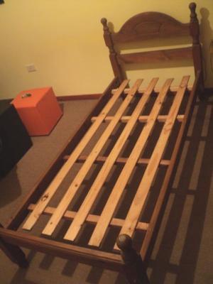 cama 1 plaza pino torneado regalo chivilcoy