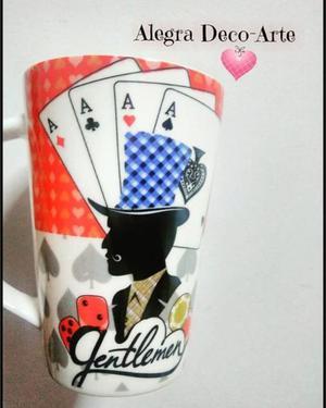 taza de ceramica poker
