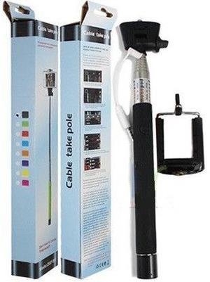 Bastón Stick Monopod Selfie Extensible Con Cable