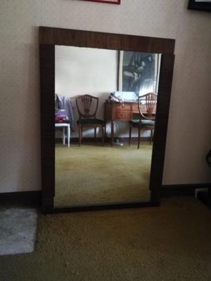 Espejo con marco de madera 0,80 x 1,10