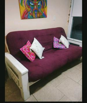 Futón con colchón de resortes