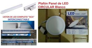 LISTON DE LED COMPLETO SICA - PLAFON LED CIRCULAR EXTERIOR
