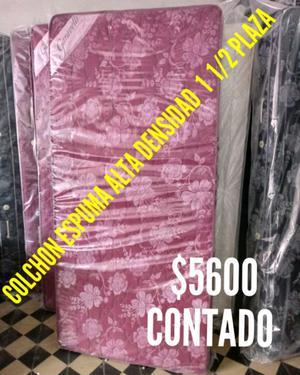 Vendo Colchon 1 1/2 plaza Espuma Alta Densidad