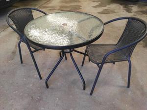 Juego mesa de Bar o Jardín con 2 sillas