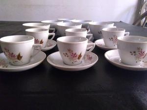 Antiguas Tacitas de café y de te porcelana pozzani(moron)