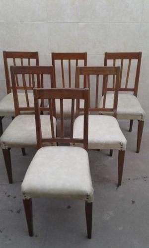 Juego 6 Sillas de madera para living o comedor