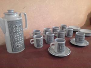Juego de café de porcelana inglesa horneza