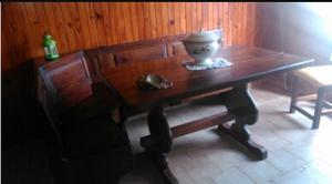 Mesa de algarrobo de 1,40 en perfecto estado