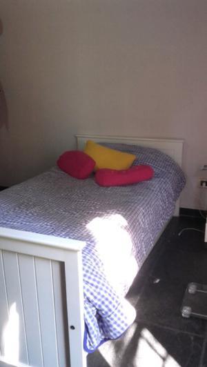 Cama 1 plaza y media con colchón