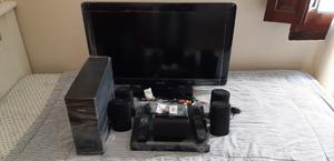 """TV PHILIPS LED 32"""" FULL HD P + HOME THEATRE PHILIPS"""
