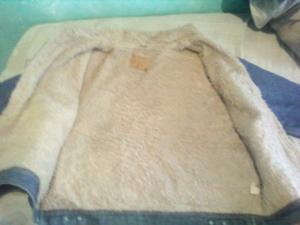 campera de jeans con corderito