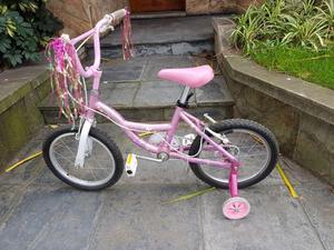 Bicicleta Infantil Rodado 16 Niña Nena con RUEDITAS