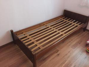 Cama 1 plaza madera maciza