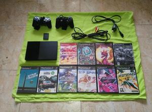 Play 2 Playstation 2 completa con 10 juegos