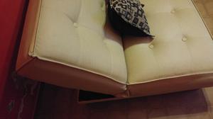 sillon cama de dos plazas en cuero talampalla