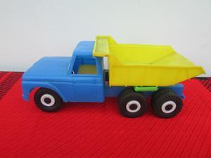 Camión volcador de plástico antiguo (9-B08)