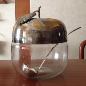 antigua ponchera de vidrio
