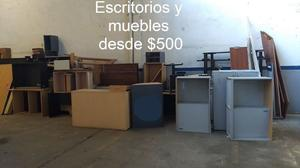 Escritorios, muebles de oficina, lotes de maderas, base