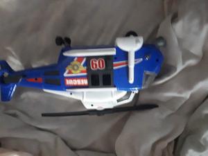 Helicoptero de juguete con sonido y luz excelente estado