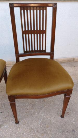 Hermoso juego de sillas estilo inglés en madera de Roble