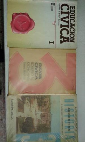 Libros de Historia y educación cívica.