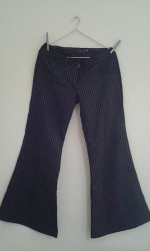 Pantalon de vestir mujer, rayadito. Oxford, Talle M
