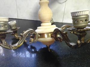 VENDO LAMPARA DE TECHO 5 LUCES, DE BRONCE MACIZO Y
