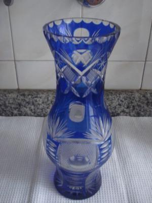 florero cristal checoslovaco 40 cms alto