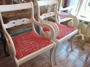 vendo 2 sillones de estilo INGLES intervenidos