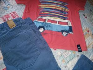 """Jeans cheeky talle 4""""y remera mimo&con talle 3"""""""