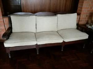 Juego de sillones usados de algarrobo