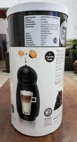 Cafetera Nescafe Dolce Gusto Mod.: Piccolo Pvar Negra